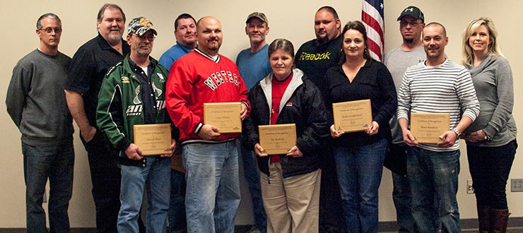 Recent graduates of the Center for Training & Development Supervisor Certificate Program were recognized.