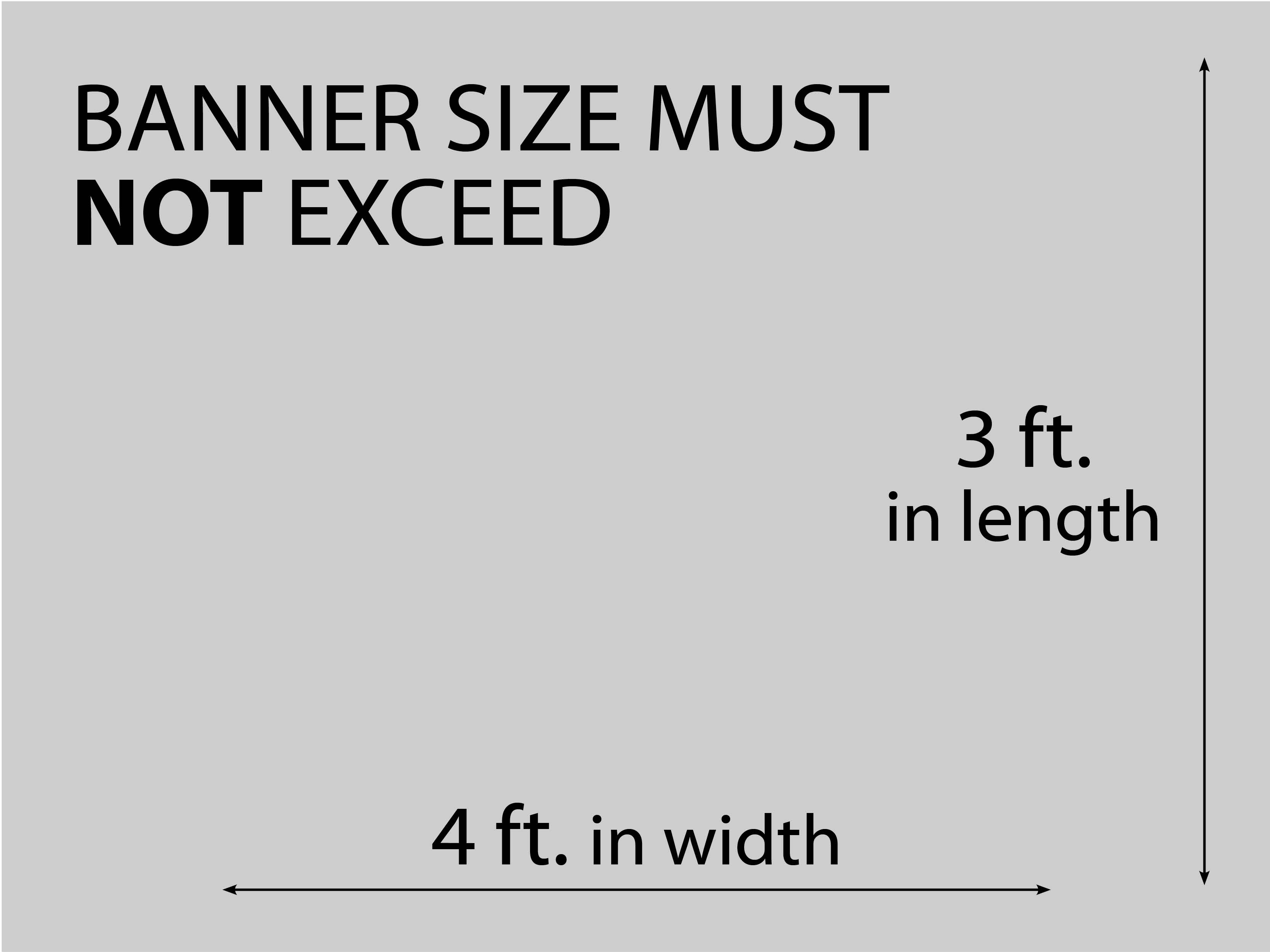 Image of the Acceptable Banner Sizes