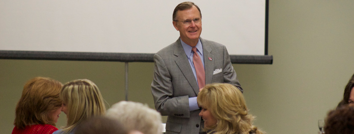 President Ransdell talks at Dual Credit's Professional Development