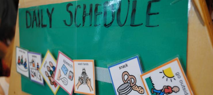 Picture schedules used in the Renshaw Early Childhood Center