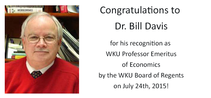 Dr. Bill Davis joins WKU Emeritus Faculty
