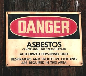 danger asbestos cancer and lung disease hazard
