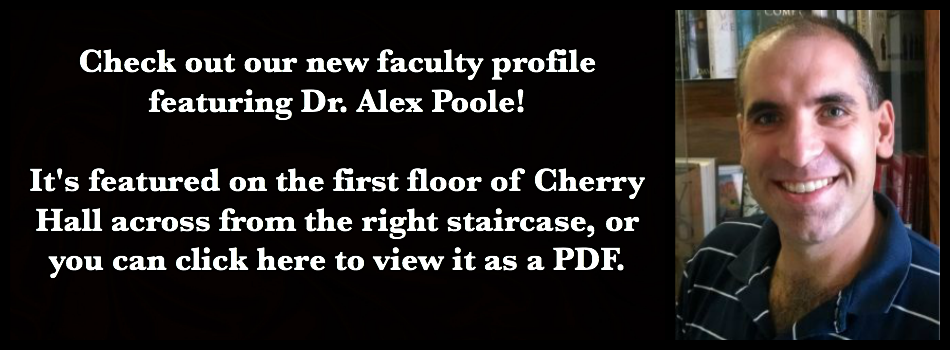 Click on this image to read the faculty profile on Dr. Alex Poole.