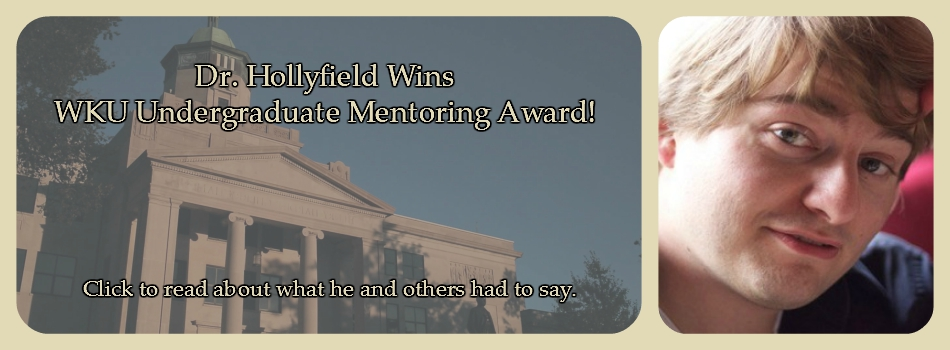 hollyfield undergraduate mentor award winner