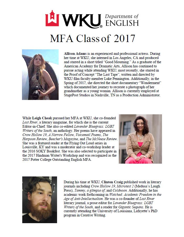 M.F.A. in Creative Writing