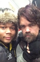 Michael Blackshire with Peter Dinklage