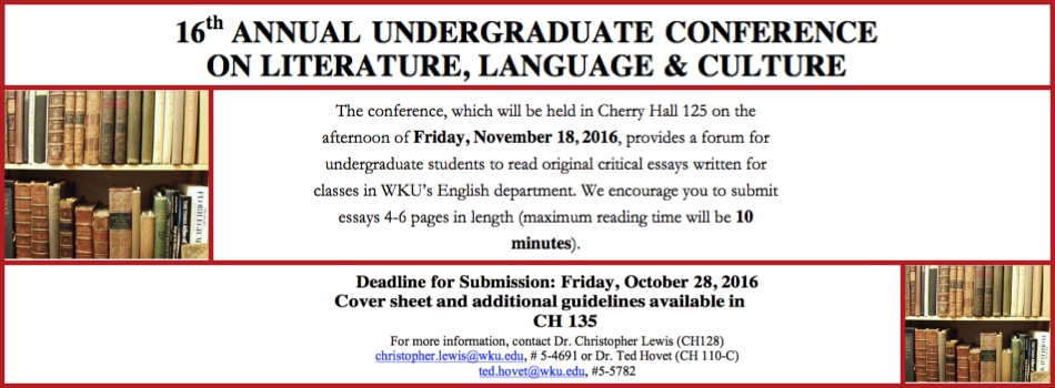 undergraduate conference program for the 16th annual undergraduate conference