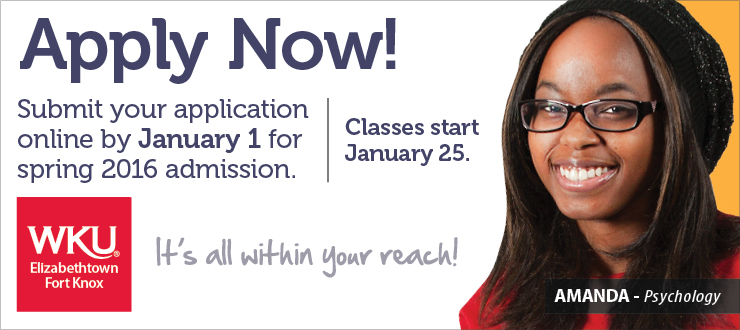 Apply now and finish your degree at WKU!