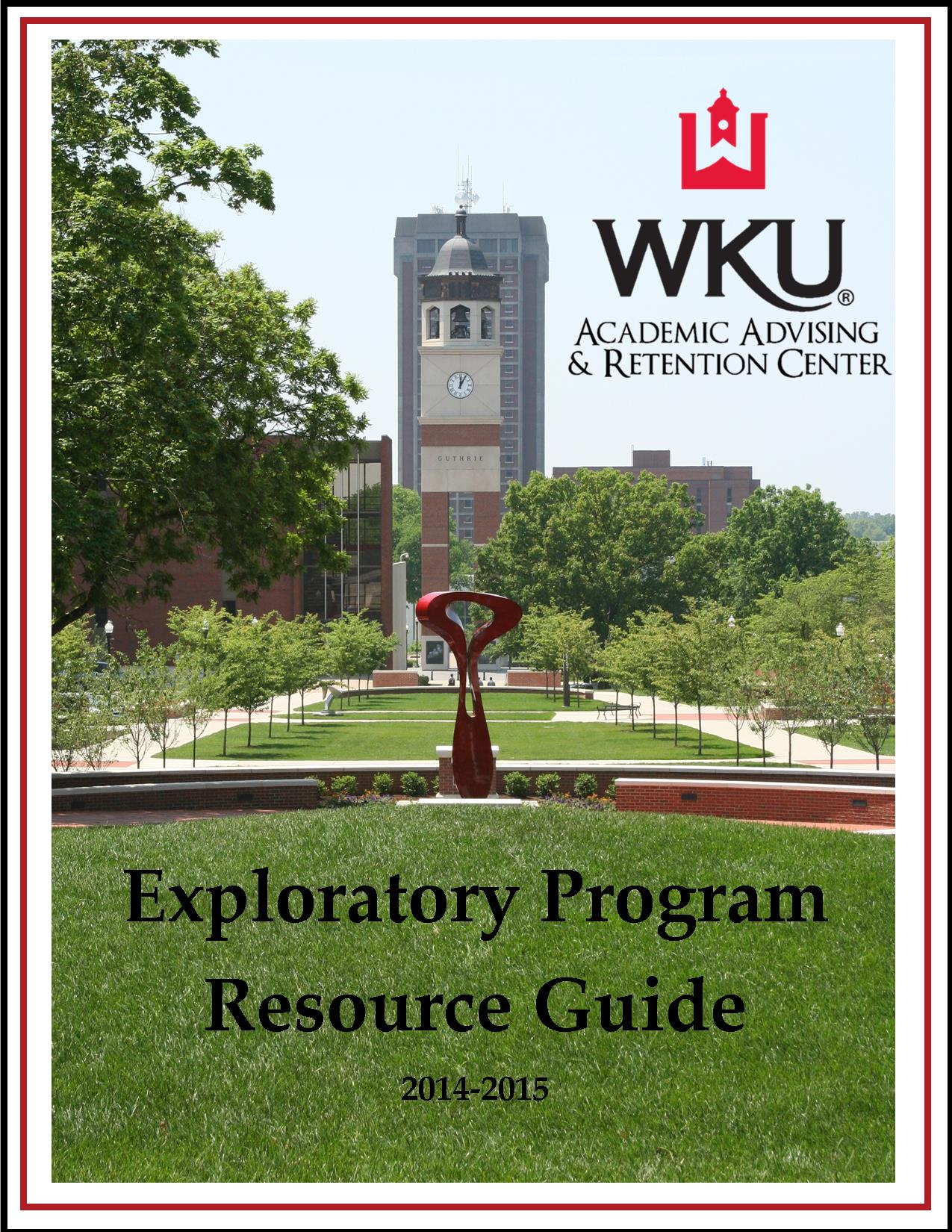 Exploratory Resource Guide 2013-2014