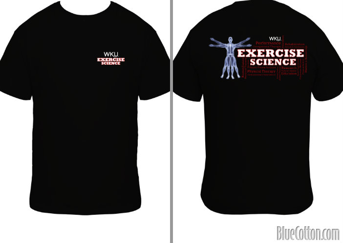 Exercise Science Club t shirt