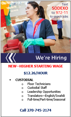 Sodexo is hiring at $12.26 an hour