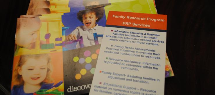 Brochure insert for the Family Resource Program