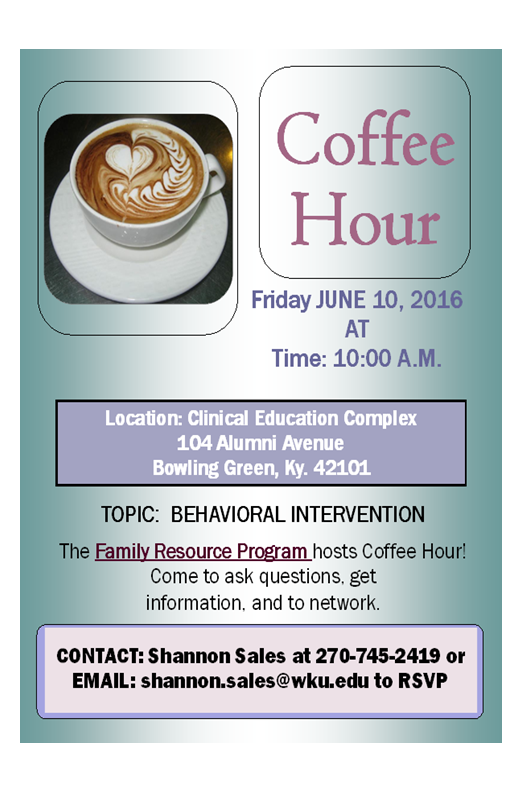 June 2016 Coffee Hour Flyer