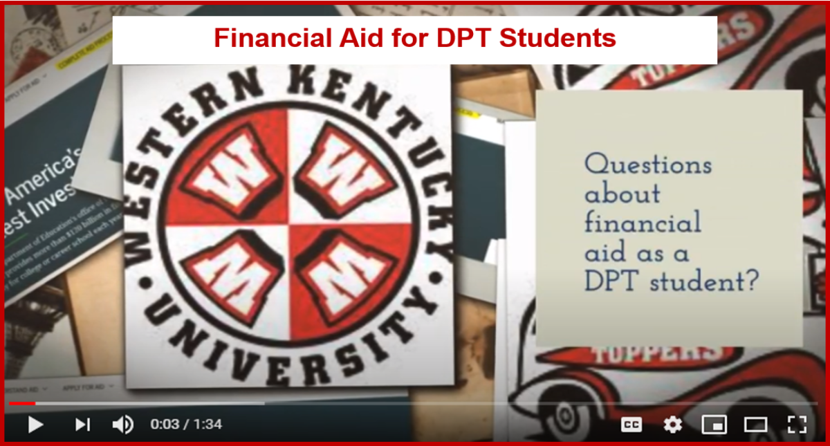 Financial Aid for DPT Students  Video Preview