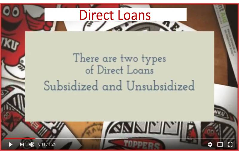 Types of Federal Direct Student Loans Video Preview