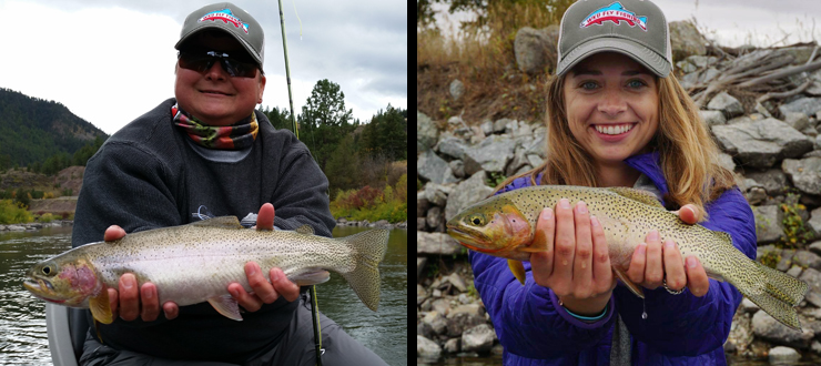 Stacy & Maddy - Fly Fishing Montana 2016