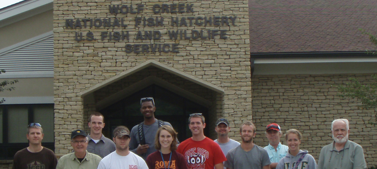 WKU 2012 May term REC 482 Fly Fishing class at Wolf Creek Fish Hatchery