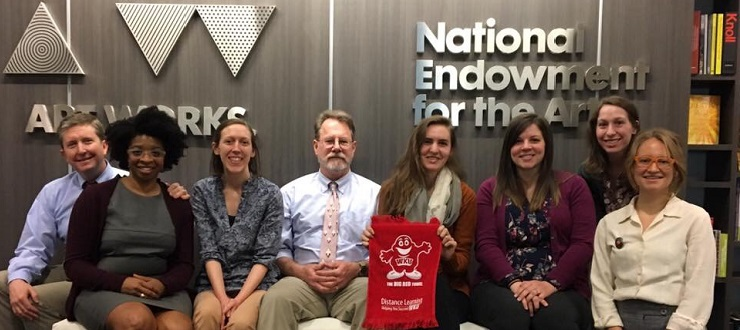 Folk Studies graduate students visiting the NEA during Brent Bjorkman's Public Folklore and Practice in Washington D.C. (2017).