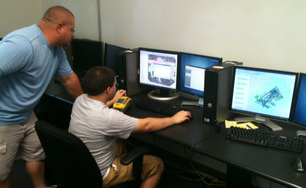 GIS Interns working on a planning project.