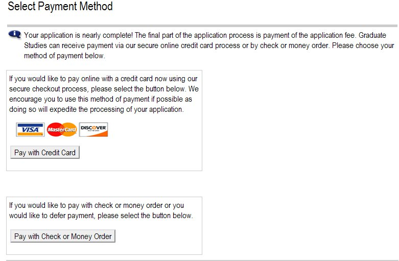 Application Payment Method