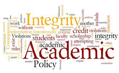 process for academic dishonesty academic integrity