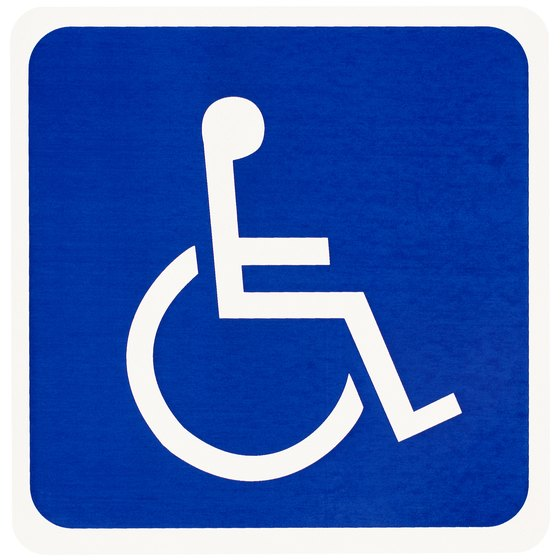 Icon representing handicapped Parking