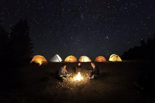 Stars around a campfire