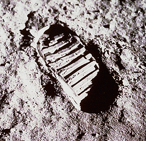 Astronaut Moon footprint