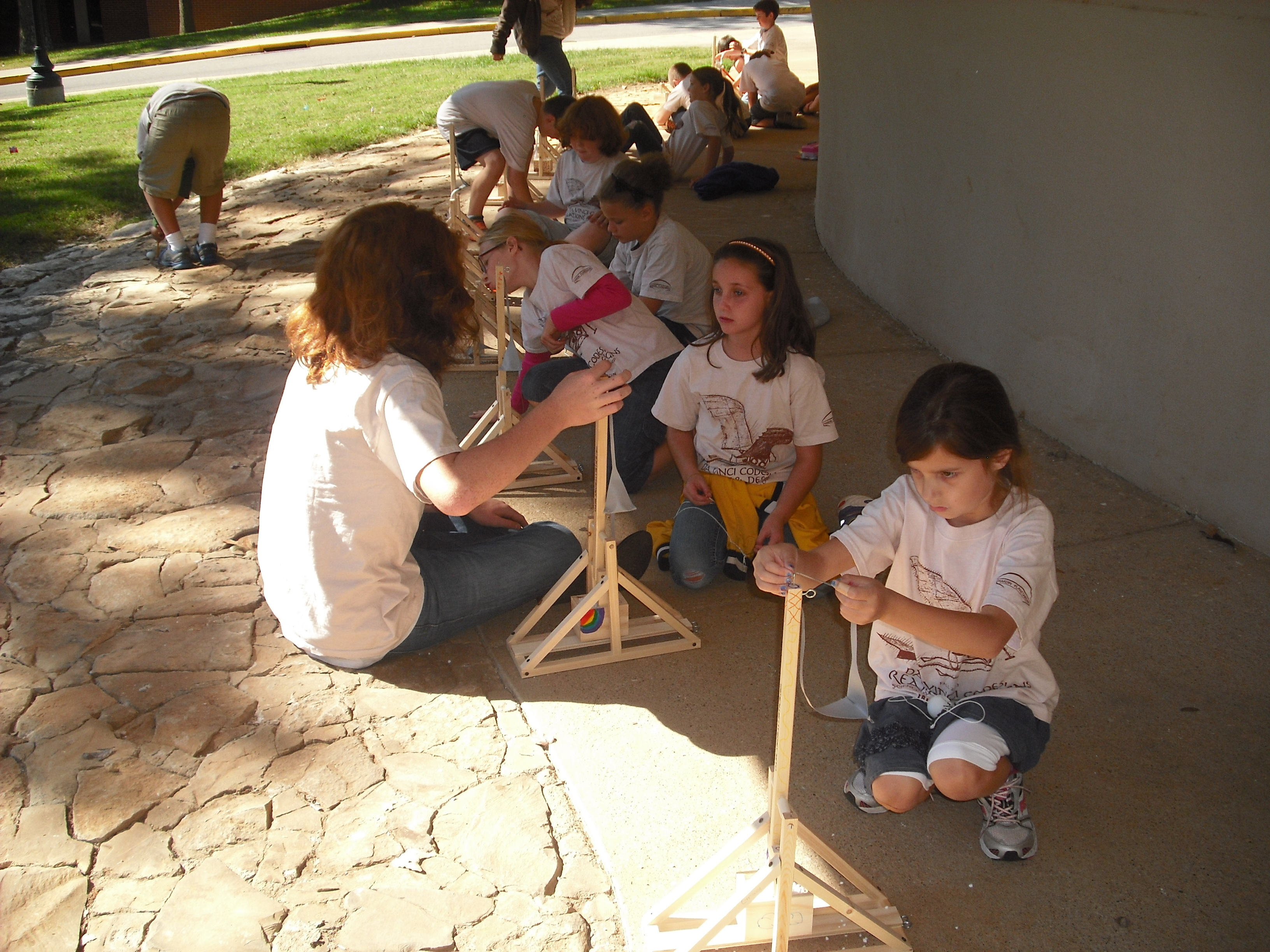 Students build their Trebuchets