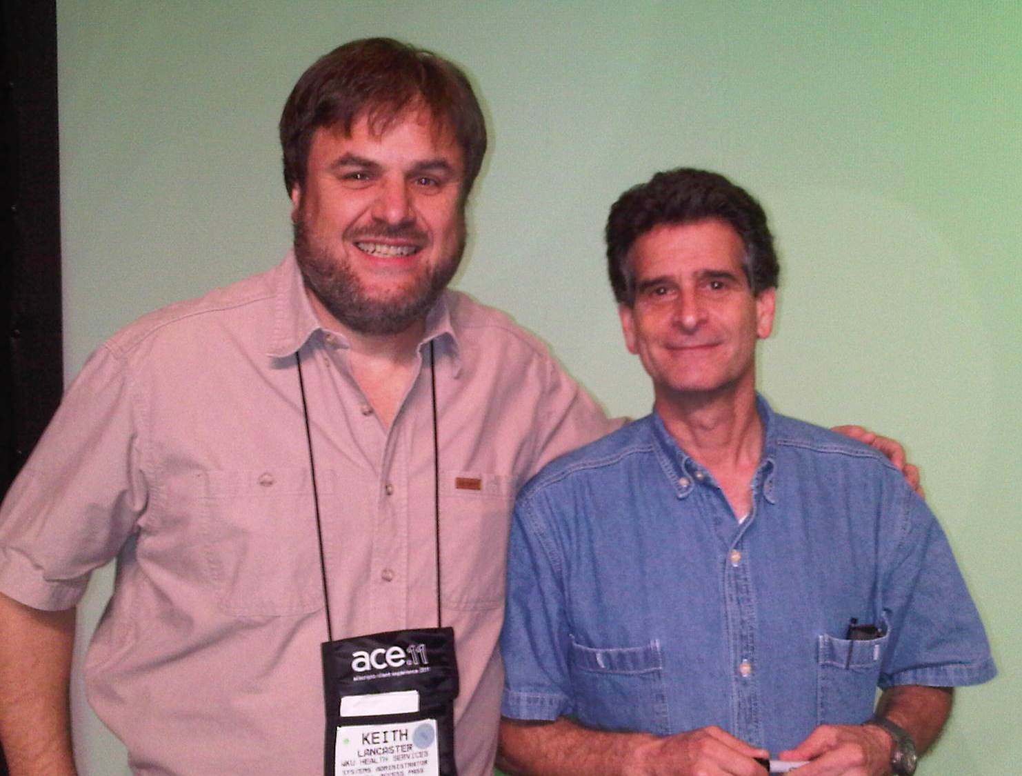 Keith Lancaster with Dean Kamen