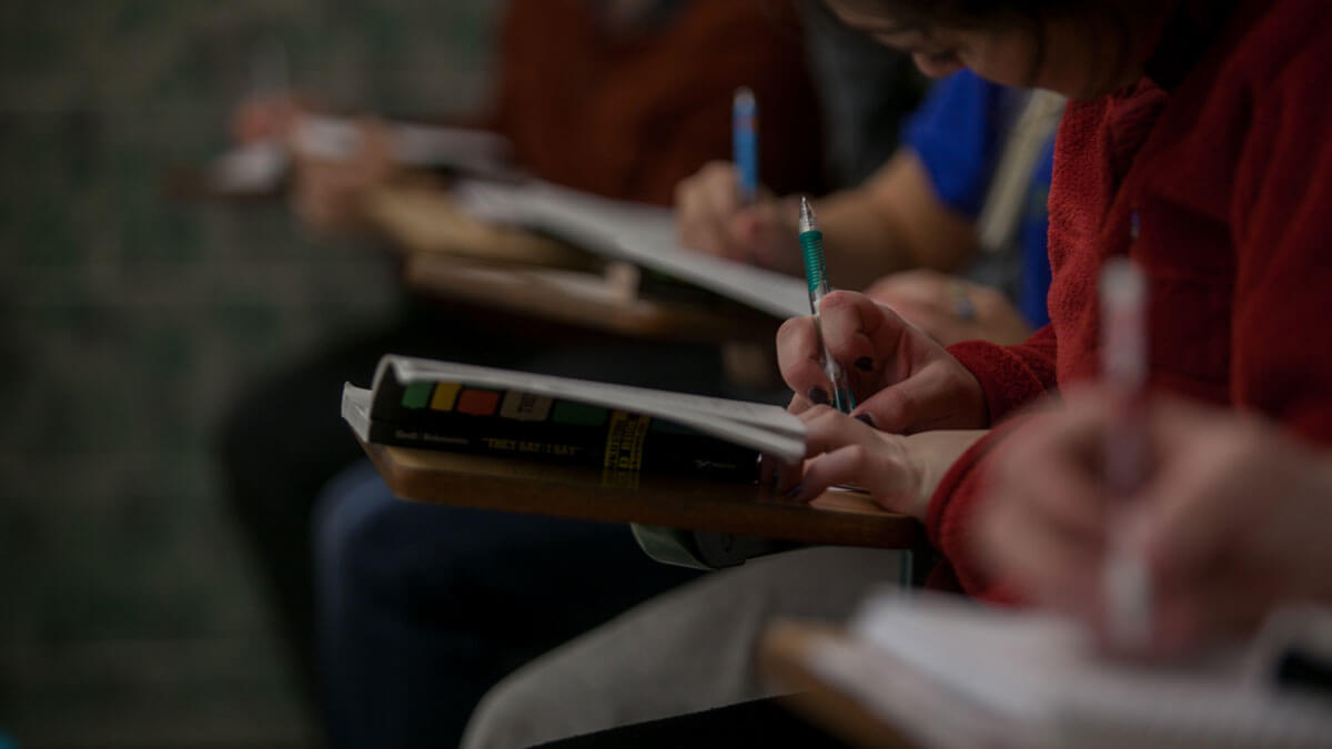Student Taking Notes