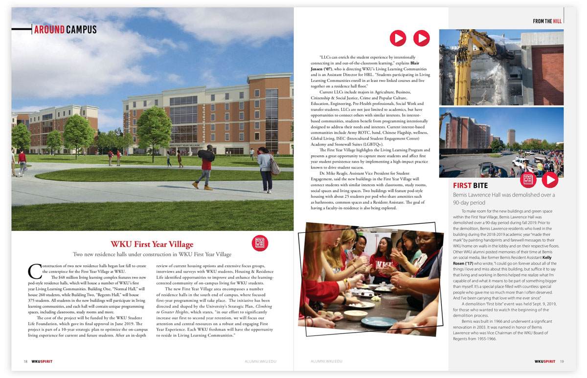 WKU Spirit Magazine Spread