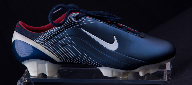 Soccer cleat belonging to U.S. National Women's Soccer Team leader and Olympian Mia Hamm