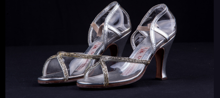 Liza Minnelli wore these jeweled, high heel sandals during her Tony Award winning performance in The Act (1977-78), directed by Martin Scorsese.