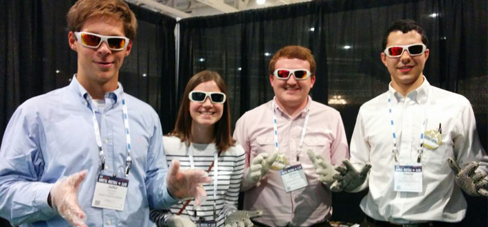 WKU students Parker Kuhn of Lexington, Laura Allen of Edgewood, Brent Stephens of Winchester, and Trevor Davis of Louisville were recently able to learn about careers in long term care at the 2014 LeadingAge Annual Meeting.
