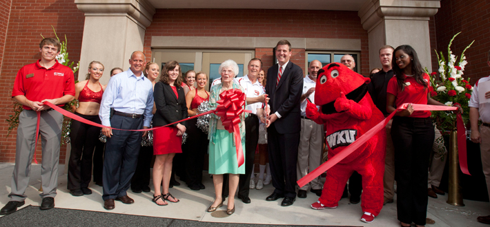 The ribbon cutting and dedication ceremony of the renovated Downing Student Union took place on August 29.