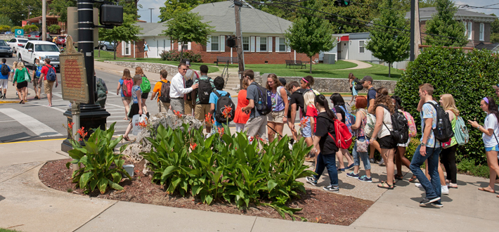 WKU president Dr. Gary A. Ransdell greeted students on the first day of fall classes on Aug, 25. View a complete gallery of #firstday photos at wku.edu/news.