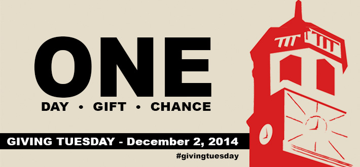 ONE Day Gift Chance. Giving Tuesday. December 2, 2014 #givingtuesday
