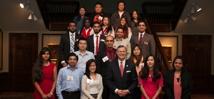 WKU international students graduating in Fall 2014 were honored Thursday (12/11) at the International Graduation Reception held in the Kentucky Museum.