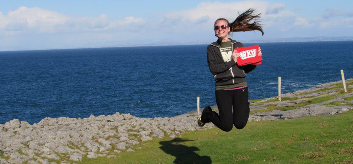 Shepherdsville junior, McKenzie Perdew, recently visited Ireland during her semester at Harlaxton College in England.  Where would you like to live and learn?  Click this image to check out study abroad opportunities for WKU students.