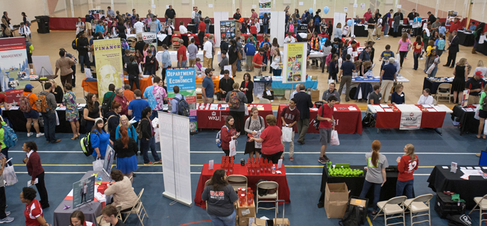Nearly 1500 students attended the Majors and Minors and Study Abroad Fair held Sept. 16.  The event, co-sponsored by the Academic Advising and Retention Center and the Office of Study Abroad and Global Learning had over 80 majors, minors, faculty-led study abroad programs, and academic offices present.