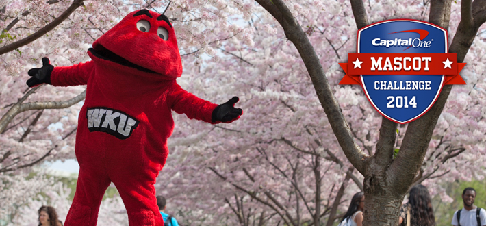 Vote for Big Red today in the Capital One Mascot Challenge! Click this image to vote now!