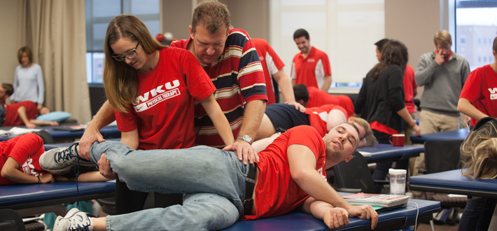 WKU provides students with opportunities to obtain hands-on experience in their fields of study.  The WKU Physical Therapy program is a great example.  Click this image to learn more about program offerings at WKU.