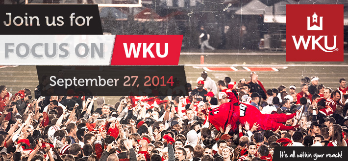 Focus on WKU Sept 27.  Register online today!