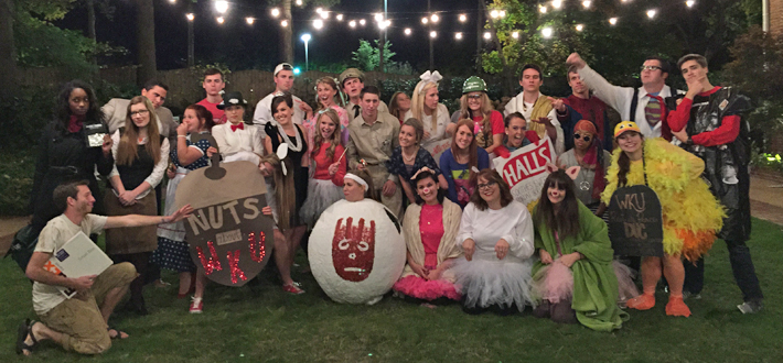 The WKU Spirit Masters celebrated their annual Pumpkin Carving and Costume Party at the President's Home on October 29th.