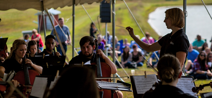 The WKU Symphony performed at Bowling Green's Jackson's Orchard Sept. 20 to mark the beginning of their 2014-2015 performance season. Interested in future performances? You may purchase tickets at wku.showare.com.