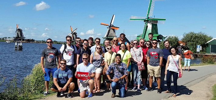 A group of Economics and Sociology students visited Amsterdam for a summer study abroad with Dr. Dan Myers (Economics) and Dr. Matt Pruitt (Sociology) of the Gordon Ford College of Business. #shareyoursummerwku #internationalreach