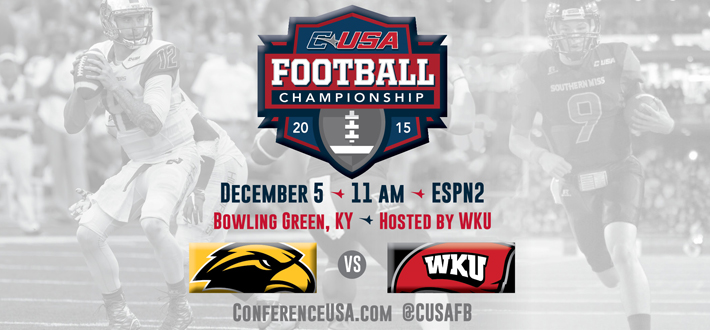 Conference USA Championship Game 12/5, 11 am, ESPN 2