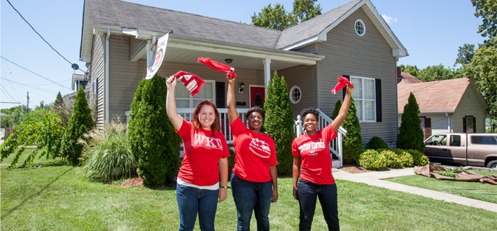 The WKU Hill House is a graduate assistant program of the WKU ALIVE Center for Community Partnerships. Students are selected to live and work together at the Hill House, with a shared goal of building a strong local community and improving quality of life. The Hill House Open House & Proclamation Signing will take place Friday, September 18th.