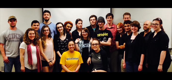 Filmmaker Lexi Alexander visited Dawn Hall's Pop Culture & Gender class to discuss her career and women in the film industry.